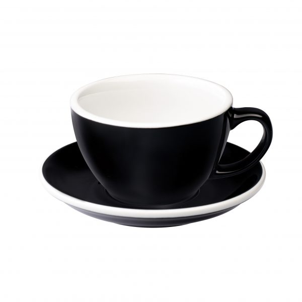 Tazas Grandes de Café Con Leche 300ml Black Loveramics