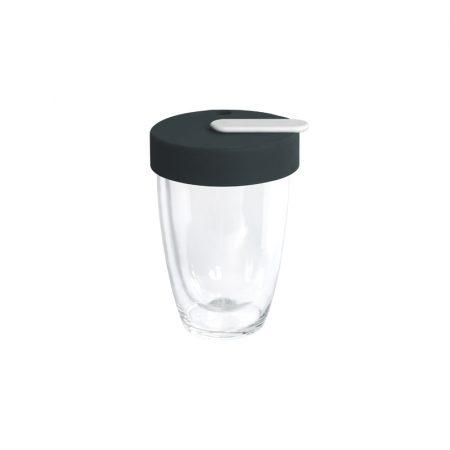 Taza de Ca´fe de Cristal con Tapa Glass Nomad Loveramics