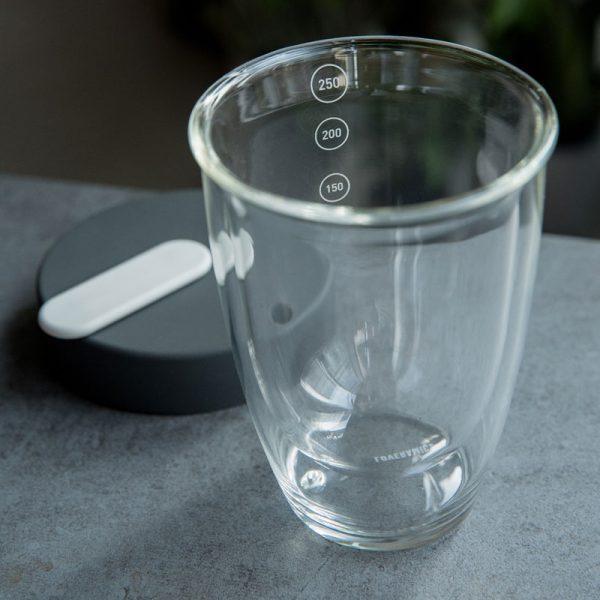 Taza de Café con Tapa Medidor Glass Nomad Loveramics