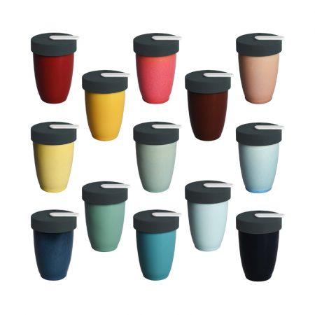 Tazas con tapa para café Nomad Loveramics